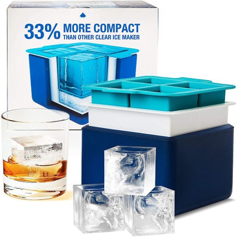 Epare Clear Ice System - Mold Makes 4 Large Crystal Clear Ice Cubes