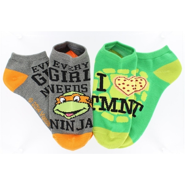 Teenage Mutant Ninja Turtles Ankle Socks 2-Pack - Black