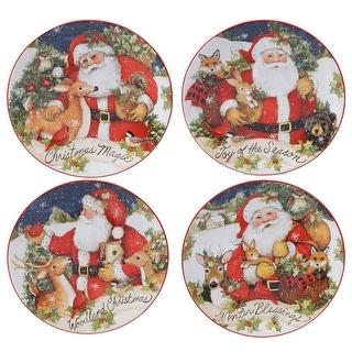 Link to Certified International Magic Of Christmas Santa 9-inch Salad/Dessert Plates (Set of 4) Similar Items in Christmas Entertaining
