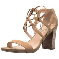 Franco Sarto Womens Jewel Suede Open Toe Casual Strappy Sandals