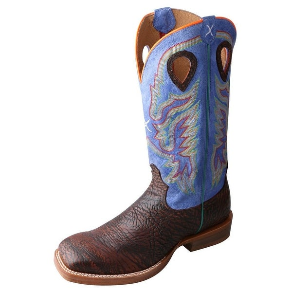 Twisted X Western Boots Mens Ruff Stock Antique Chocolate