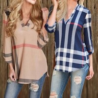 Stripe Long Sleeve Shirts
