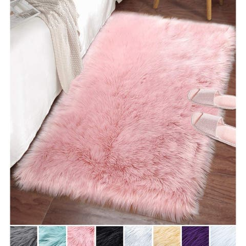 Lochas Ultra Soft Cozy Fluffy Rugs Sheepskin Area Rug