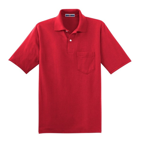 34b78b558d6 Shop Jerzees 50/50 Pocket Sport Shirt with SpotShield, Red S - Free  Shipping On Orders Over $45 - Overstock - 27465847