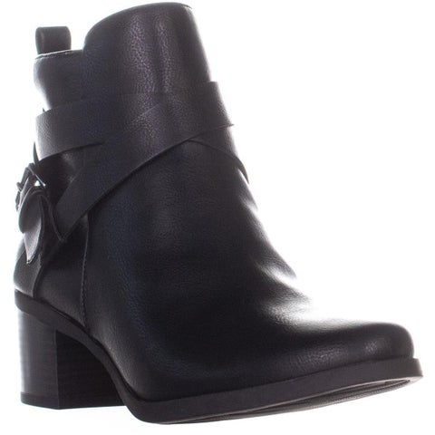 Anne Klein Javen3 Buckle Ankle Boots, Black