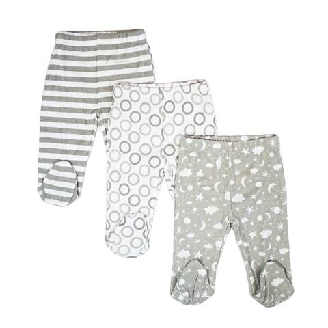 3 pack Footed Pants