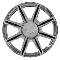 Pilot Automotive WH541-15C-BLK 15-inch Chrome 8 Spoke with Black Inserts Wheel Cover (Pack of 4)