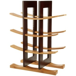 Anchor Hocking 98617 Home Collection Bamboo Wine Rack With Espresso Finish