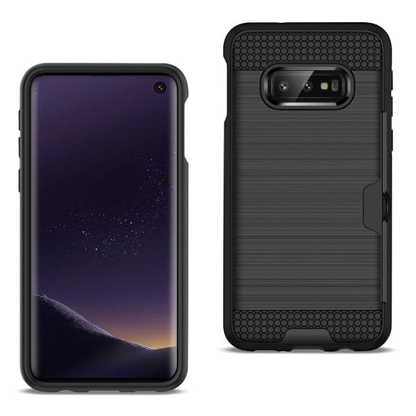 Shop Black Friday Deals On Reiko Samsung Galaxy S10 Lite S10e Slim Armor Hybrid Case With Card Holder Overstock 28020550