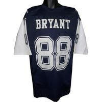 Dez Bryant unsigned Blue 2 Star Custom Stitched Pro Style Football Jersey XL