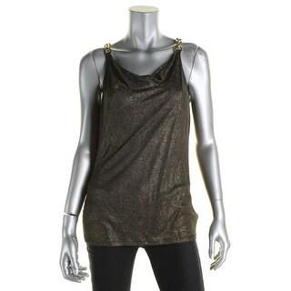 MICHAEL Michael Kors Womens Tank Top Linen Chain