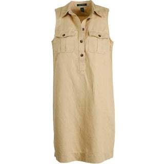 Lauren Ralph Lauren Womens Linen Herringbone Casual Dress