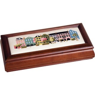 "Mahogany Long Jewelry Box 6""X13""X2.75""-Design Area 4""X11"""