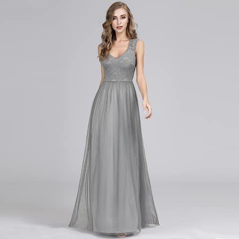 Ever-Pretty Womens Lace Elegant Long Formal Evening Party Prom Dress 07509