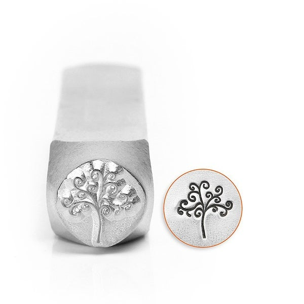 ImpressArt Metal Punch Stamp, Tree of Life Design 9.5mm, 1 Piece, Steel