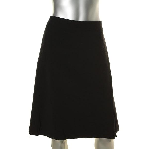 Nine West Womens Flare Skirt One-Slit Fit