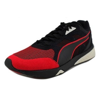 Puma 698 Ignite Select Men Round Toe Canvas Black Running Shoe