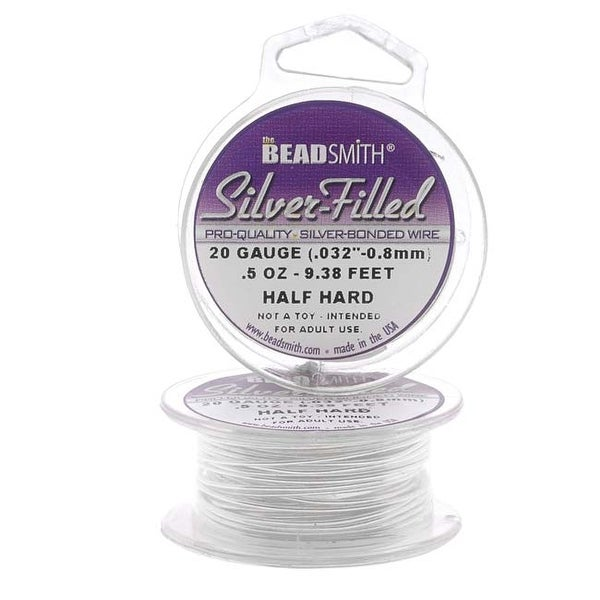 Beadsmith Silver Filled Wire - 20 Gauge Round Half Hard - 0.5oz (9.37 Feet)