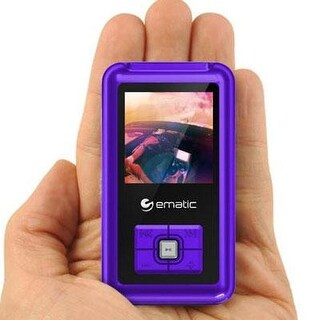 Ematic Em208vidpr 8Gb Mp3/Video Player  Purple
