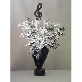 Party Deco Balloon Weight Centerpiece - Black Treble Clef - Pack of 6