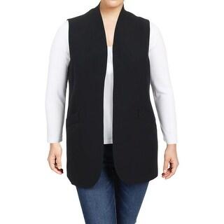 Anne Klein Womens Vest Open Front Business Wear
