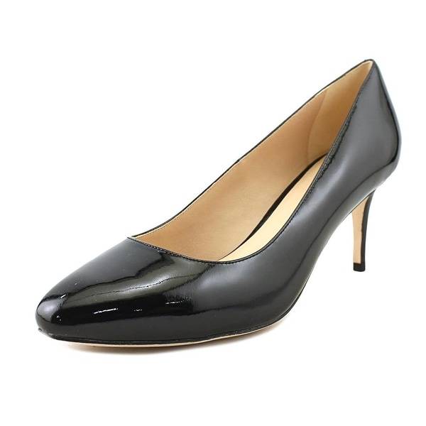 Cole Haan Bethany Pump.65 Women Pointed Toe Patent Leather Black Heels