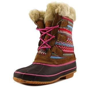 Khombu Dana Youth Round Toe Suede Multi Color Mid Calf Boot