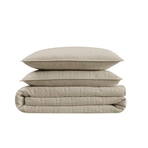 Cannon Heritage Solid 3 Piece Quilt Set