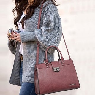 Link to Dasein Women Satchel Purses Handbags Shoulder Bags Work Tote Bags with Wristlet Similar Items in Shop By Style