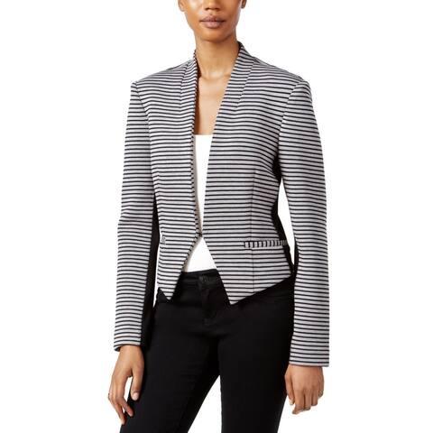 RACHEL Rachel Roy Women's Frankie Striped Blazer, Black/ Heather Grey, S
