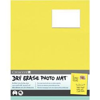 "Yellow - Dry-Erase 8""X10"" Photo Mat Holds 2""X3"" Photo"