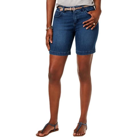 Lee Womens Petites Denim Shorts Denim Bermuda