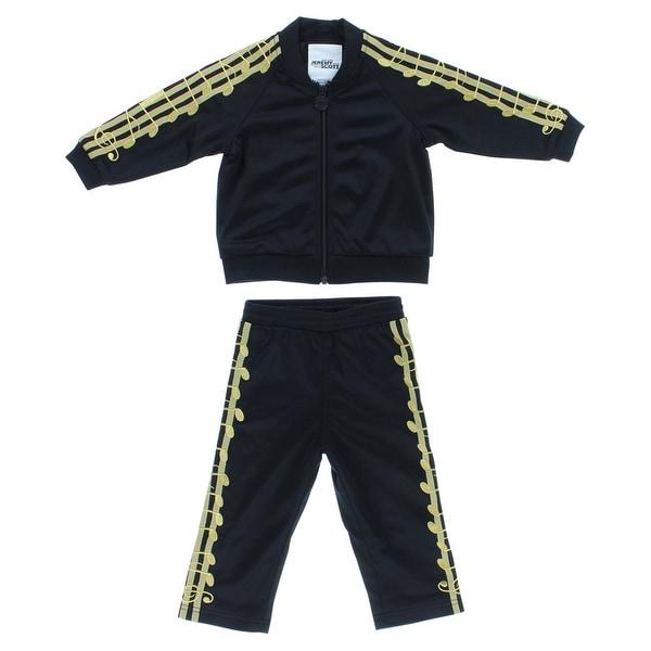 Adidas Baby Boys Jeremy Scott Music Note Track Suit Black - Black/gold