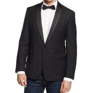 Ryan Seacrest Mens One-Button Suit Jacket Slim-Fit Pattern