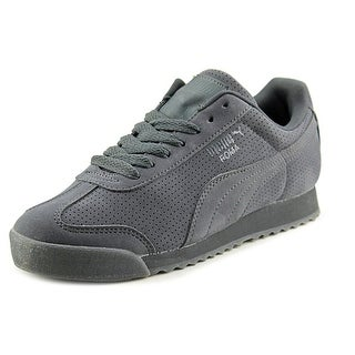 Puma Roma Mono Translucent Youth Round Toe Suede Gray Sneakers