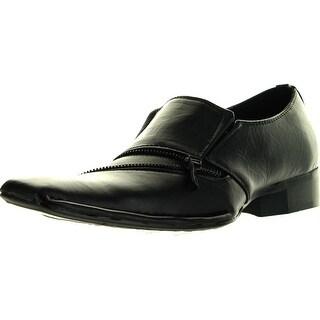 Alberto Fellini Hlm-02 Mens Dress Shoes Loafers Slip On Tapered Toe Fashion Italian Style Casual Zipper