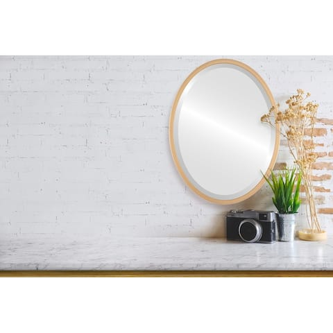 London Framed Oval Mirror - Gold Paint