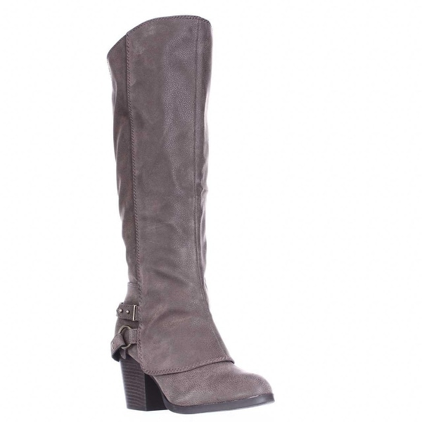 AR35 Eboni Cuffed Heel Boots, Taupe