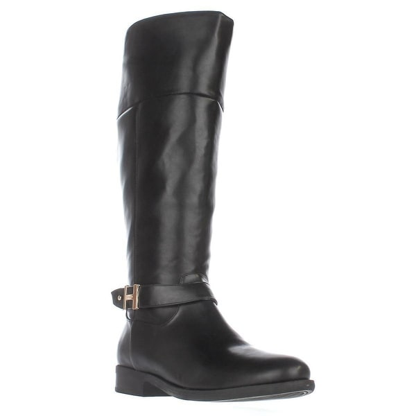 Tommy Hilfiger Shahar Wide Calf Knee High Boots, Black Multi