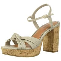 Rampage Womens Ram-Marcia Fabric Open Toe Casual Ankle Strap Sandals