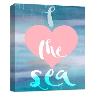 "PTM Images 9-124823  PTM Canvas Collection 10"" x 8"" - ""Love the Sea"" Giclee Sea Art Print on Canvas"