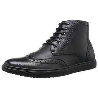 Madden Mens Rooney Leather Wingtip Dress Boots