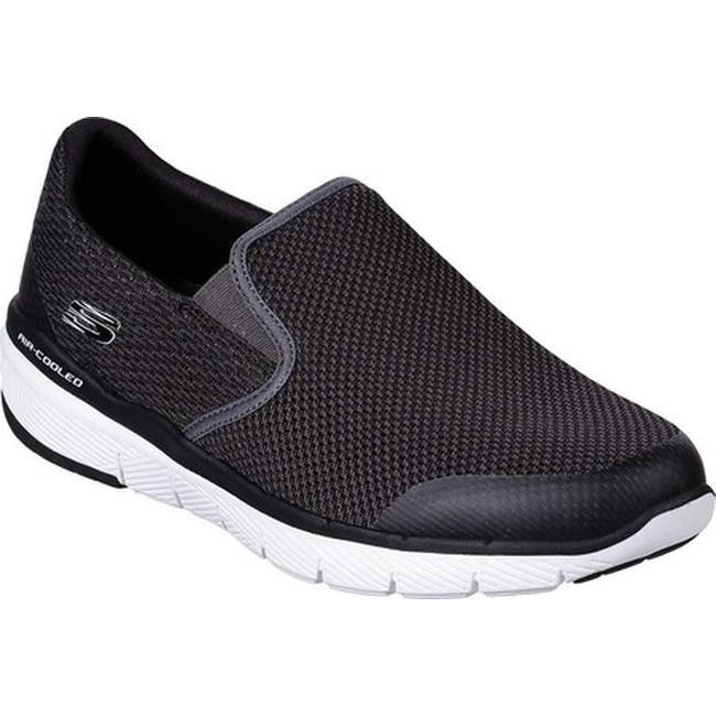 Skechers Men's Flex Advantage 3.0 Morwick Slip On Sneaker BlackWhite