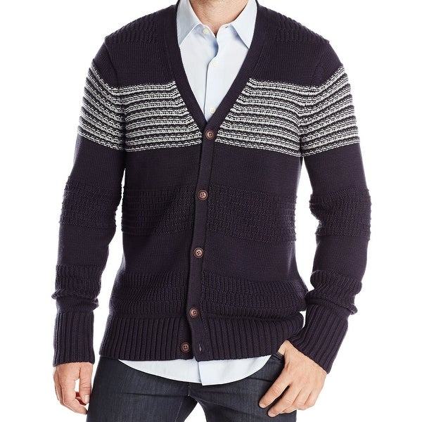 18c4bc7fe6f Shop Nautica NEW Navy Blue Mens Size 2XL Button Down Cardigan Sweater -  Free Shipping Today - Overstock - 21804167