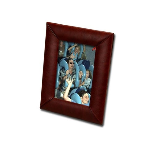 Dacasso A3017 4 x 6 Leather Photo Frame for Décor