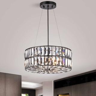 Link to Justina 4-Light Antique Black Crystal Glass Prism Chandelier Similar Items in Chandeliers