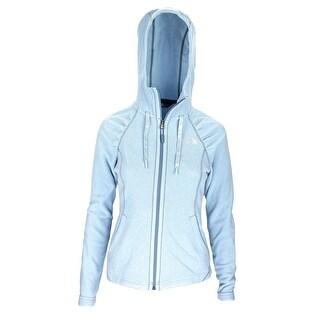 The North Face Women Mezzaluna Hoodie Basic Jacket Light Blue/Blue/White
