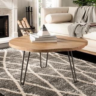 "Safavieh Dale Free Edge Coffee Table -Weathered/Oak - 35.4"" x 35.4"" x 17.7"""