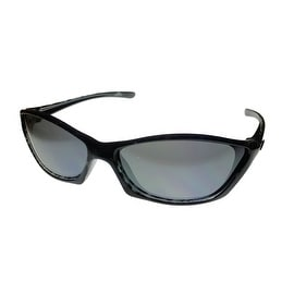 Angel Womens Sunglass Madeline Black Plastic Stripe PC Mirror