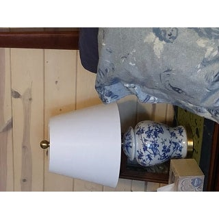 """Penelope 22"""" Chinoiserie LED Table Lamp, Blue/White by JONATHAN Y"""